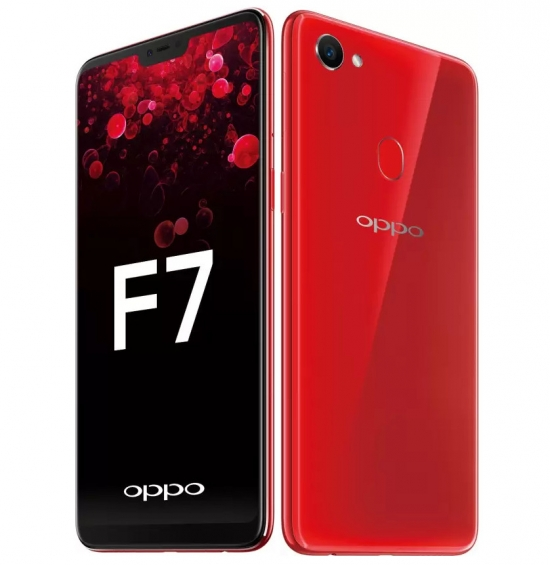 OPPO F7 Selfie 25mp 4/64gb RED SILVER RESMI