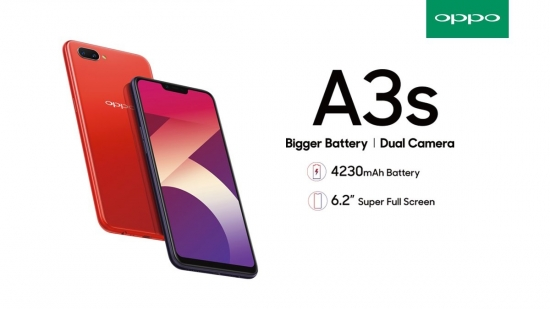 Oppo A3s 2018 New free silikon/anti gores ( purpple dan red)