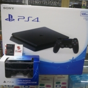 PS4 SLIM JET BLACK 500 GB CUH 2006A + 2 STIK