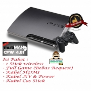 Sony Playstation 3 Slim CFW Hardisk 250 Gb Full Games