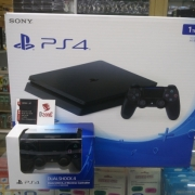 PS4 SLIM JET BLACK 1 TB CUH 2006B + 2 STIK