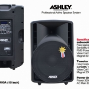 Speaker aktif ASHLEY BR 400A 15inch 300watt