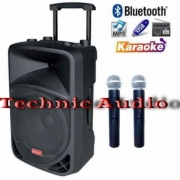 Speaker Portable Wireless BareTone BT1515BWR 15Inchi