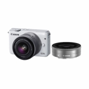 CanonEOS M10 White with EF-M15-45mm/22mm