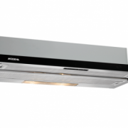 BX 9603 FACILE MODENA SLIM & BUILT-IN SLIDE OUT HOOD / ISLAND HOOD BLACK GLASS PANEL / PENYARING UD