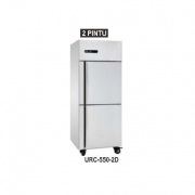 URF-500-2D STAINLESS STEEL KITCHEN REFRIGERATION UPRIGHT FREEZER 2 DOOR ATAU FREEZER CABINET 2 PINTU