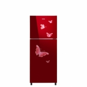 Sanken SK-G220-MR Kulkas 2 Pintu [215L/Tempered Glass]