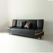Anya-Living - Saigon Sofa Bed - Hitam Garis Orange