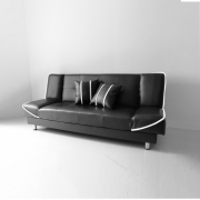 Anya-Living - Saigon Sofa Bed - Hitam Garis Putih