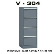 Filling cabinet locker besi 4 laci