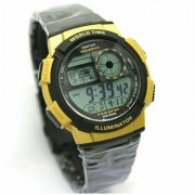 Digitec World Time Pria DG3061-P175D45 Stainless Steel - Black Gold