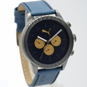 Puma PU104281001 D46H1185BRHT Chronograph Pria Leather Strap
