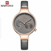 Naviforce 5001D32P19 Jam Tangan Original Wanita Analog Leather Strap