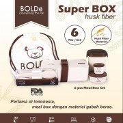 BOLDE Super Box Kotak Makanan Bahan Husk Fiber - 6 pcs Meal Box Set