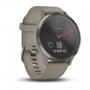 Garmin Vivomove HR Sport Hybird Smartwatch Black with Sandstone Silico