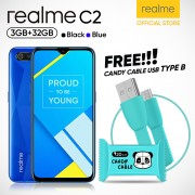 Realme C2 [3GB/32GB] Free Candy USB Cable Fast Charger Type B