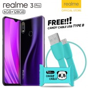 Realme 3 Pro [6GB/128GB] Free Candy USB Cable Fast Chager Type B