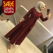 Long Dress Wanita – Maxi – Aahana /105| MAXI ARETHA Maroon