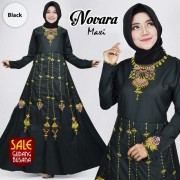 Long Dress Wanita – Maxi – Aahana /135| MAXI NOVARA Hitam