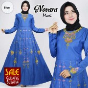 Long Dress Wanita – Maxi – Aahana /135| MAXI NOVARA Biru