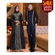 Baju Couple Muslim – Baju Pesta – Aahana /155 | COUPLE NAILA HITAM