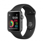 Apple Watch Series 1 Aluminum Case with Sport Band Smartwatch - Space Gray Black [38 mm]