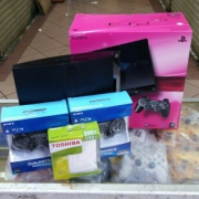 Ps3 slim cfw+hardis 500gb+2stik
