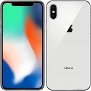 new iphone X 64GB silver grs internasional