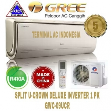 AC SPLIT GREE 1 PK ( GWC-09UCR ) U-CROWN DELUXE INVERTER R410A CHINA