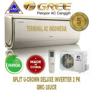 AC SPLIT GREE 2 PK ( GWC-18UCR ) U-CROWN DELUXE INVERTER R410A CHINA
