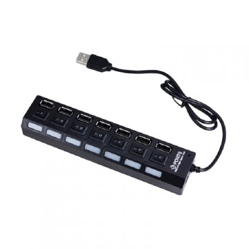 USB Hub Saklar - Black [7 port]