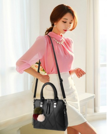 New Elegant Patchwork Style Women Top-Handle Bag
